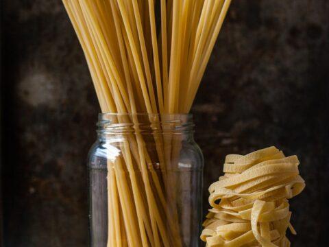 uncooked three pastas